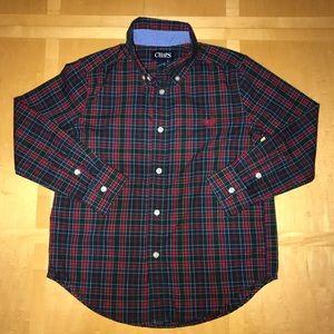 Ralph Lauren Chaps Button Down Plaid Shirt